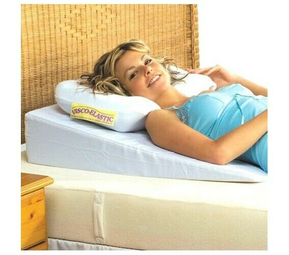 Luxury memory foam acid reflux support bed wedge support for Best sleeping wedge
